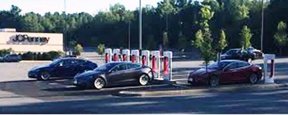 Shopping Center - Tesla Charge Station   Behavior Analytics Retail