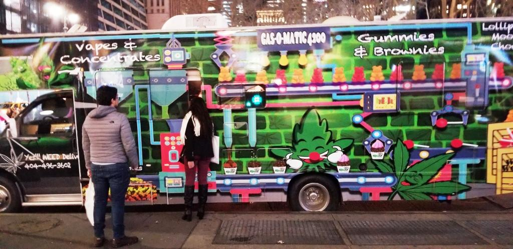 Signs of retail future? Weed car-mart in Manhattan (Source Ronny Max)   Behavior Analytics Academy